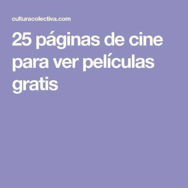 25 páginas de cine para ver películas gratis