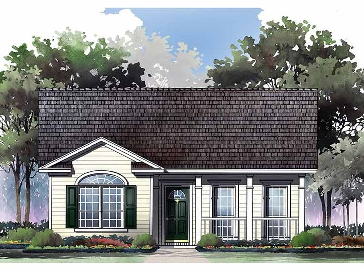 Bungalow house plan with 1000 square feet and 2 bedrooms for Bungalow designs 1000 sq ft