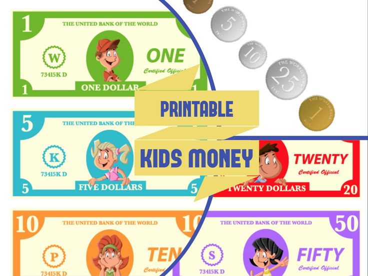 Printable Kids Play Money | Kids Activities Place