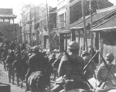 What Were the Main Causes of World War II in the Pacific?: Japanese troops entering Shenyang during Mukden Incident, 1931.