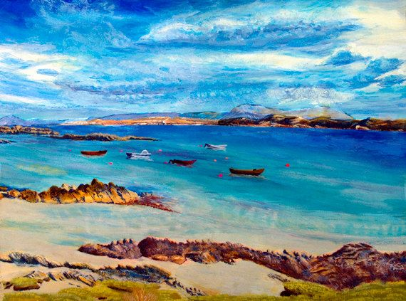 Mull from Iona printScottish Island by PaintingsGallery on Etsy