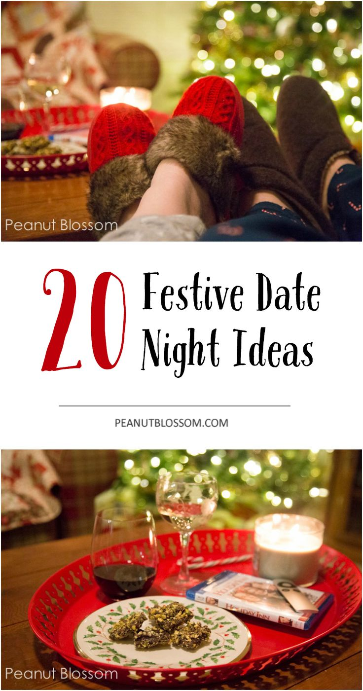 20 festive date night ideas for the holiday season! Don't forget to celebrate the magic of Christmas with your sweetheart. Love how easy and simple some of these are, saving this for our weekly date night!