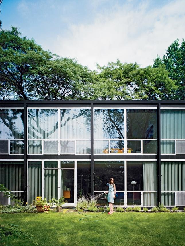 Lafayette Park, Detroit, Mies Van Der Rohe: House Tours, Landscape Architects, Vans Of, Der Rohe, Mie Vans, Lafayette Parks, Modern Home, Detroit Michigan, House Exterior