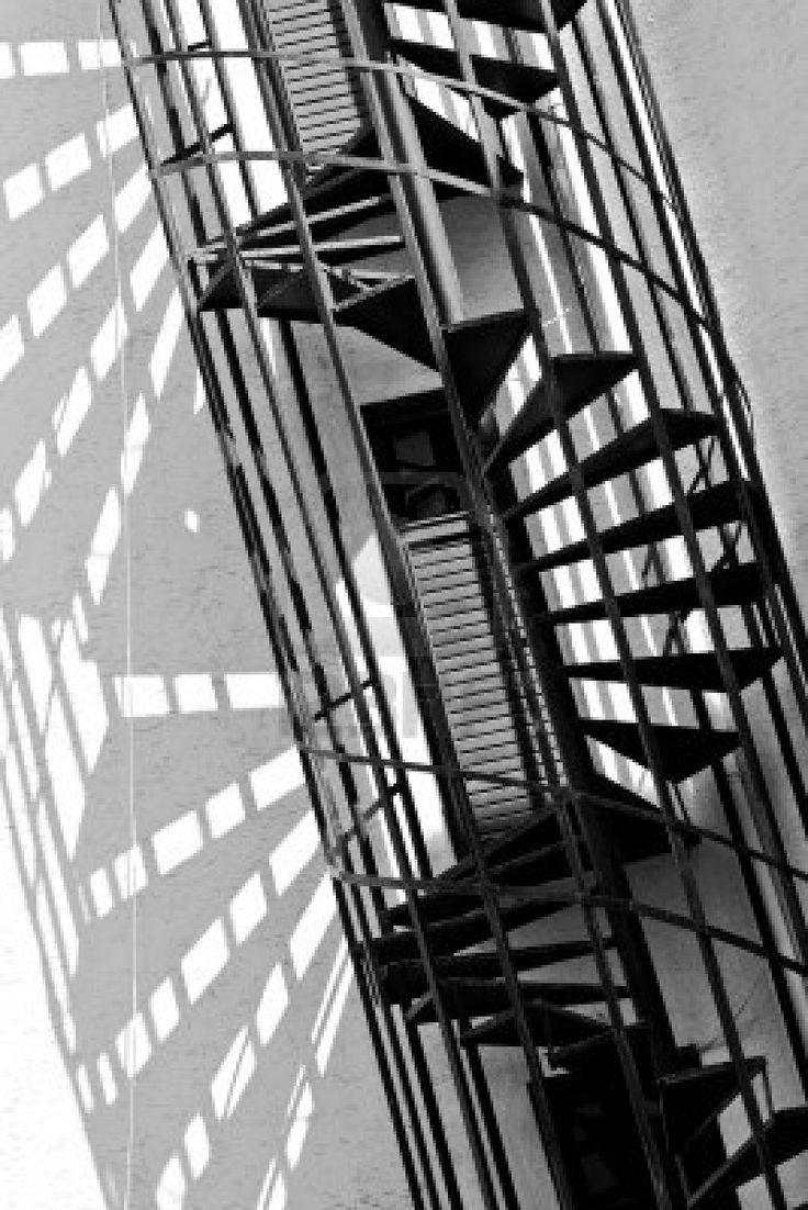 64 best images about fire escape on pinterest ladder for Square spiral staircase plans hall