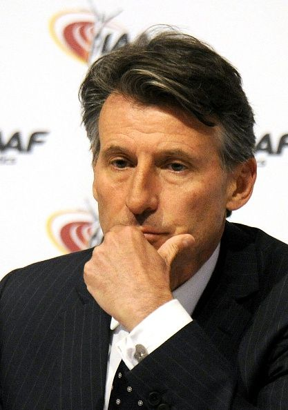 #RIO2016 The International Association of Athletics Federations President Sebastian Coe is pictured during a press Conference at the IAAFCouncil in Vienna on...