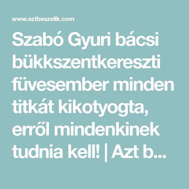 Szabó Gyuri bácsi bükkszentkereszti füvesember minden titkát kikotyogta, erről mindenkinek tudnia kell! | Azt beszélik