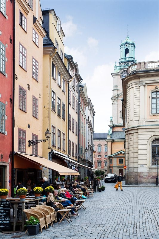 Stortorget, Old town Stockholm ..I've been in this exact spot. Looks just like this ..fountain on the right.