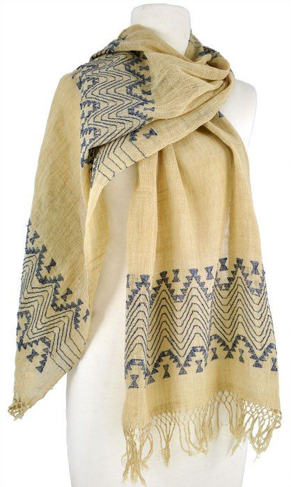 Cashmere Silk Scarf - cream dollhouse by VIDA VIDA dUvuUR