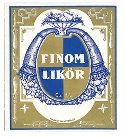 Old Vintage Hungarian Liquor Label, Liqueur Delicate,, ig6210