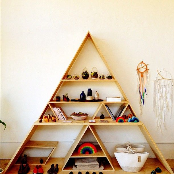 37 best images about new ffg shop build out on pinterest mirror cabinets cabinets and - Triangular bookshelf ...