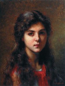 Alexei Alexeievich Harlamoff - Portrait of a Young Girl (29)