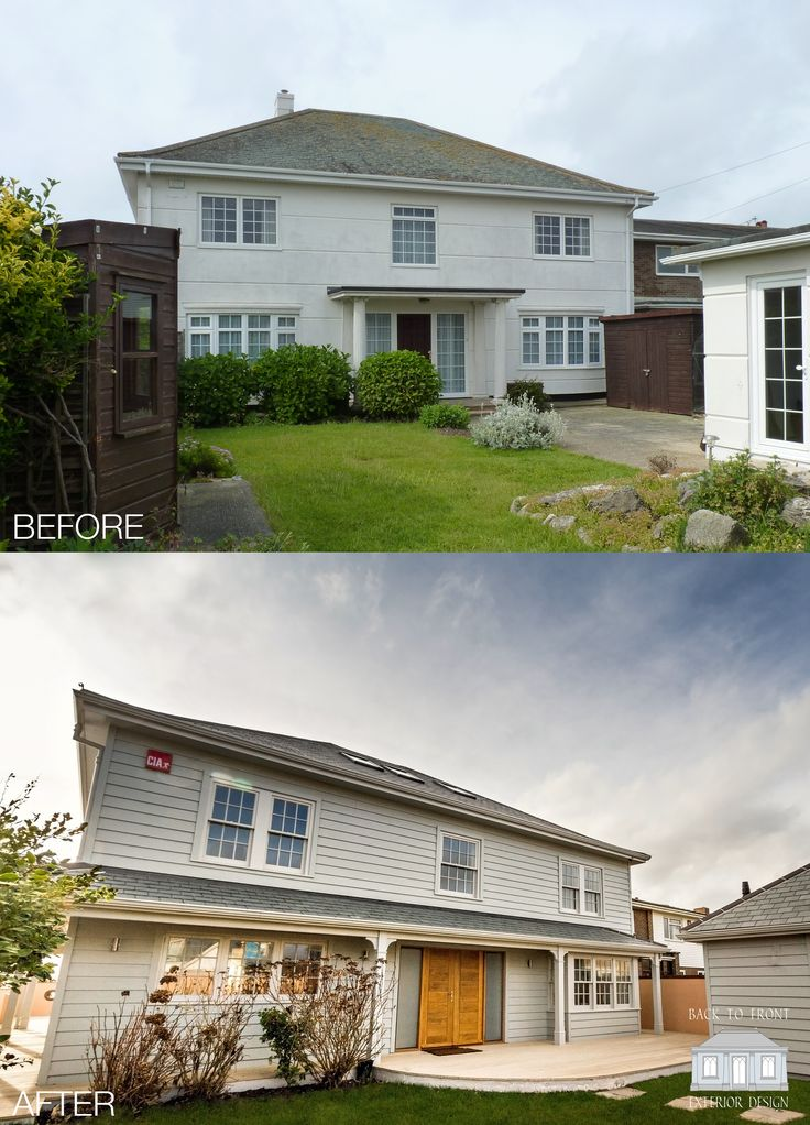 Coastal exterior design transformation. The property has had a new England facelift with a fantastic new internal layout.