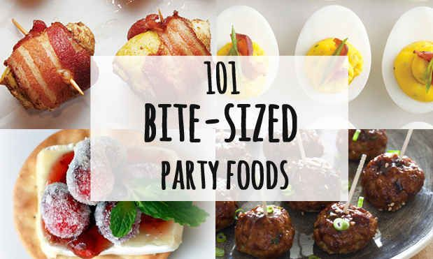 101 Bite-Size Party Foods-not gluten free-need to move to Christmas apps