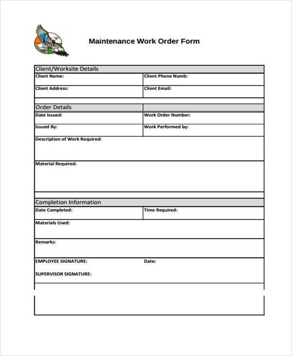 Best 3 Work Order Template Pdf Download You Calendars Https