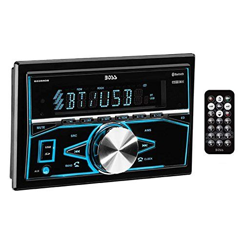 Boss Audio Systems 820BRGB Boss Audio Bluetooth, Double-Din, MP3/USB/SD Am/FM Receiver (No CD/DVD player). For product info go to:  https://www.caraccessoriesonlinemarket.com/boss-audio-systems-820brgb-boss-audio-bluetooth-double-din-mp3usbsd-amfm-receiver-no-cddvd-player/