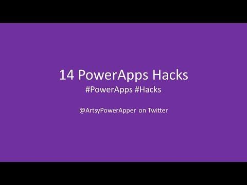 PowerApps Hacks | The First 14 PowerApps Hacks - YouTube