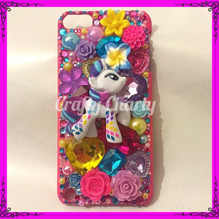 """""""Pony Pride"""" iPod Touch case featuring rainbowfied Rarity! For my little sisters new iPod, what do you think?x #craftycharly #barnsley #madeinyorkshire #handmade #decoden #mylittlepony #mlp #ipodcase #newmakes"""