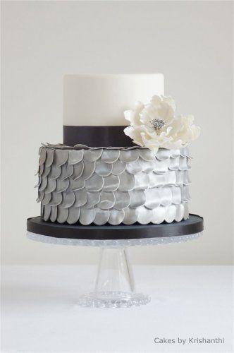 city-chic - black, white & silver cake