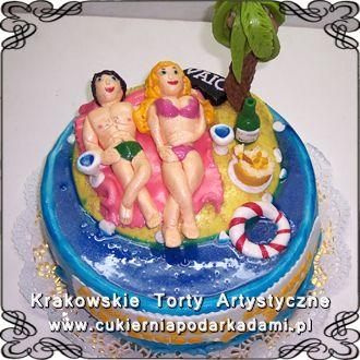 043. Tort wyspa na 30ste urodziny. Island cake for 30th birthday.