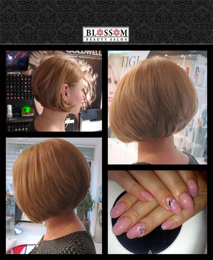Blonde bob haircut&blossom nails  Vremea placuta anunta sosirea primaverii, iar noi ne pregatim pentru noul anotimp cu culori calde si multa creativitate. Clienta noastra a ales o nuanta naturala de blond (mediu) si tunsoarea bob clasic, cunoscuta pentru volum si pentru nota moderna pe care o confera.  https://www.facebook.com/blossom.salon/photos/p.772211562868053/772211562868053/?type=1