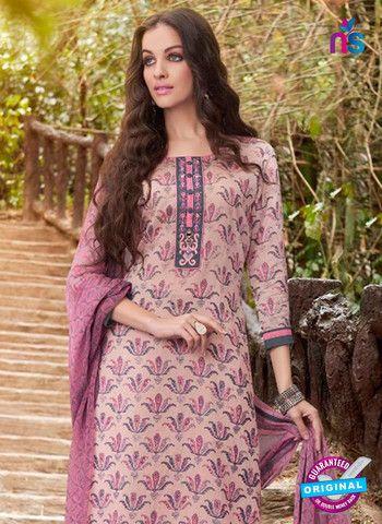Teazle 2107 Grey & Pink Color Cambric Cotton Designer Suit