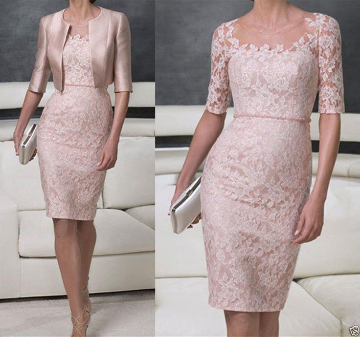 Fashion Two Pieces Sheath Mother Of The Bride/Groom Lace Dresses With Jackets Knee Length Plus Size Mother'S Wedding Formal Party Wears Cust Mother Of The Bride Dress Shops Near Me Mother Of The Bride Dress Suit From Voguedress, $116.1| Dhgate.Com