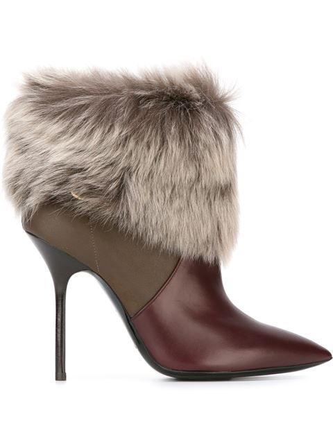 Shop Pollini shearling trim ankle boots in Parisi from the world's best  independent boutiques at farfetch