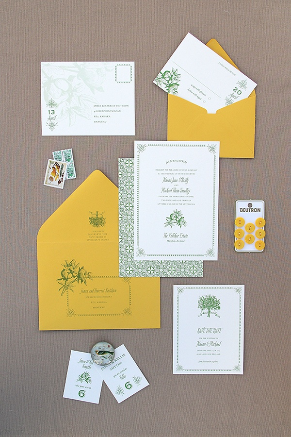 sending wedding invitations months before%0A Citrus Inspired Wedding Invites Magnolia Rouge  Berkshire