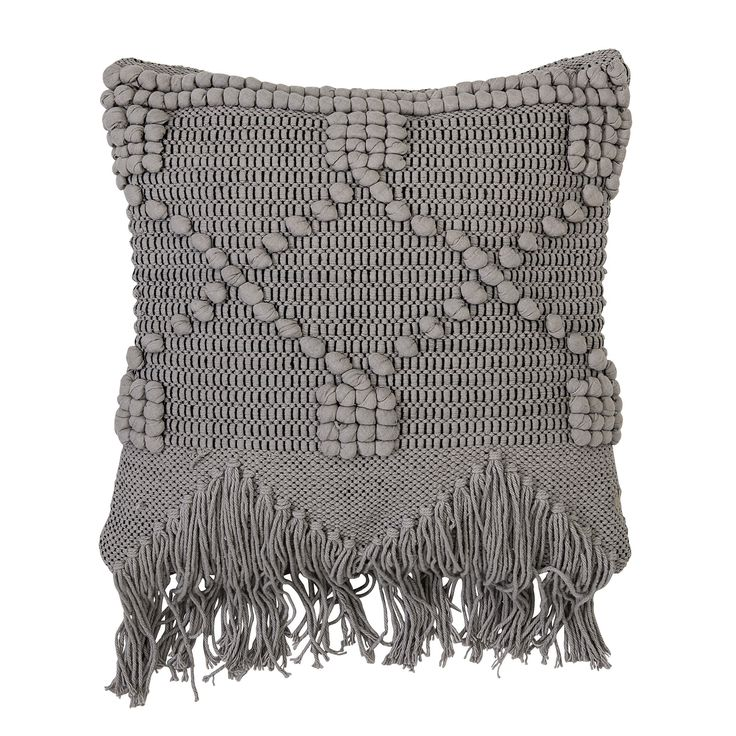 Bloomingville Grey Boho Cushion: This Grey Boho Style Cotton Cushion, By  Trendy Danish Home Brand Bloomingville, Is Perfect For Adding A Fresh  Textural Look ...