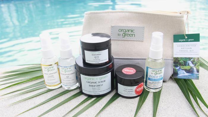 Organic Travel Kit Deluxe Coco Oil Liquid Coconut Oil Coconut