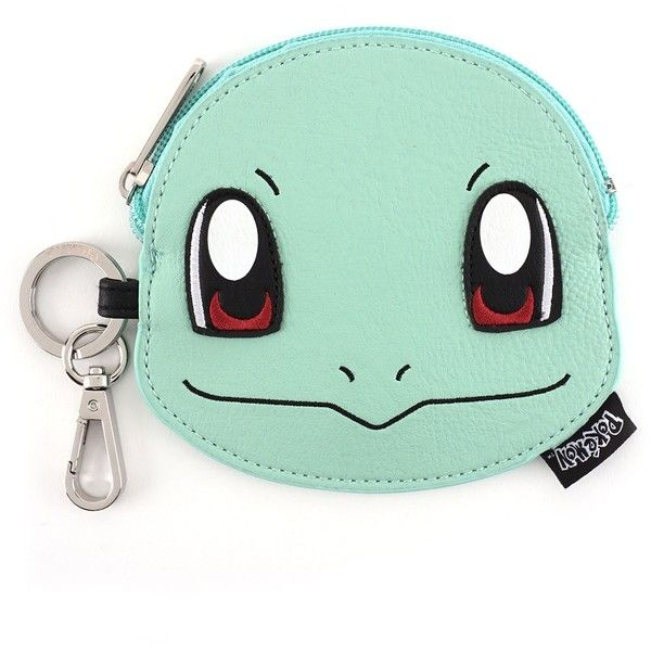 Loungefly x Pokémon Squirtle Coin Bag ($20) ❤ liked on Polyvore featuring bags, loungefly, green bag, faux leather bag, vegan bags and vegan leather bags