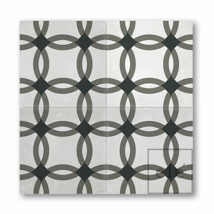 "cement pattern ""interlock"" ~cement tiles from clé now in stock!"
