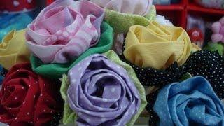 Rosas de tecido - YouTube