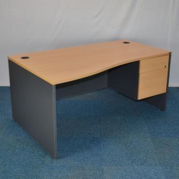 Sven Beech 1600 Wave Desk Pedestal Used Office Furniture For Uk