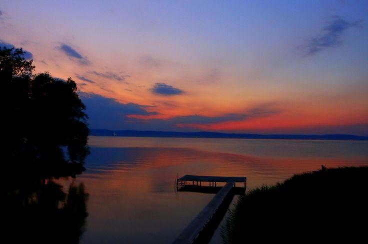 Painted Sky at Lake Balaton