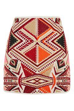 Embroidered Jacquard Skirt