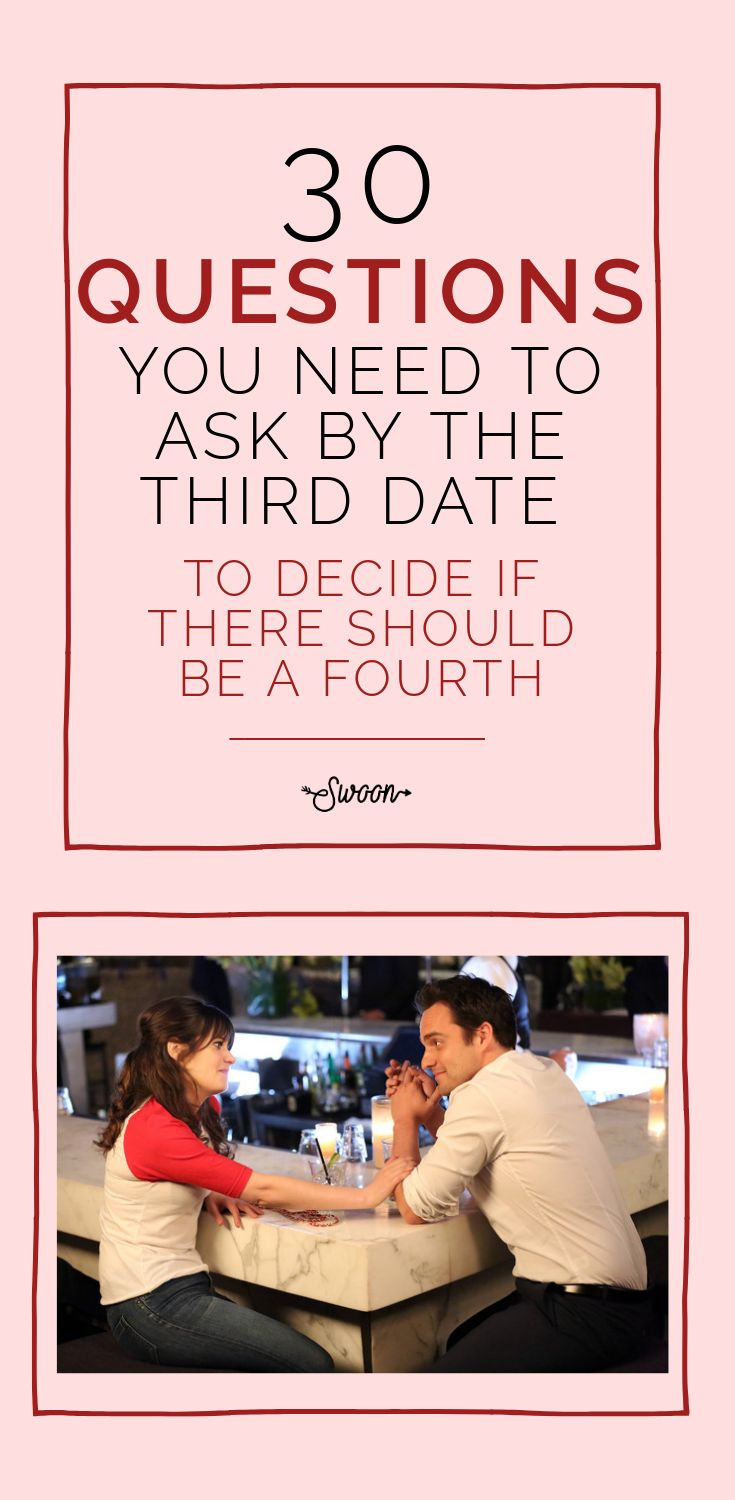 30 Questions You NEED To Ask By The Third Date To Decide