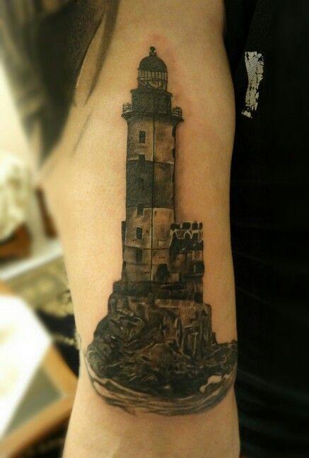 Lighthouse tattoo by BROLIN KOSTA