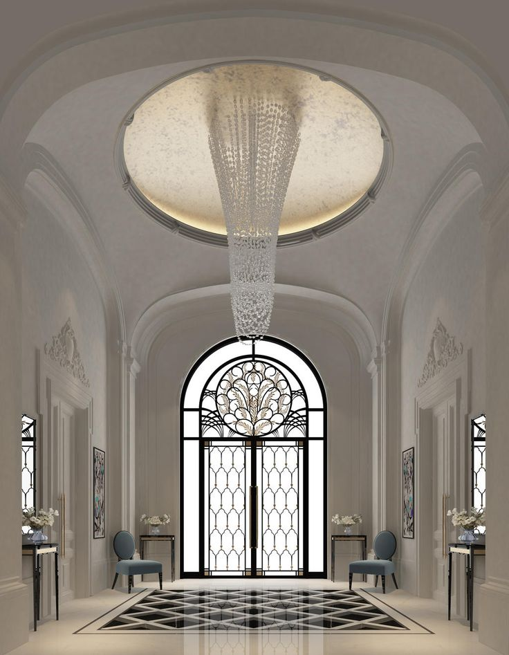 Foyer Decor Abu Dhabi : Entrance lobby dubai ions design black white