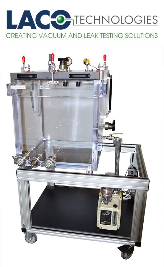 LACO Designed And Built A Portable Cart Audio Testing Vacuum System With An Acrylic Chamber For Full Visibility High Volume