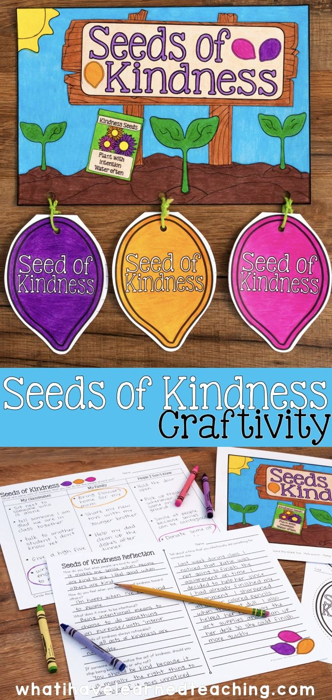 Teach children how to be intentional about being kind to others through this Seeds of Kindness Project. This kindness craftivity provides an opportunity for students to identify acts of kindness they can do in their classroom, for their family, and for strangers. It also makes a great Spring bulletin board!