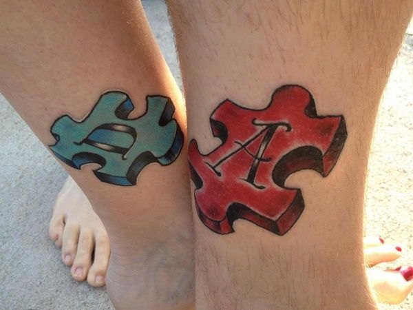 3D Puzzle Piece Tattoo - Cool Puzzle Piece Tattoo Design Ideas, http://hative.com/cool-puzzle-piece-tattoo-design-ideas/,