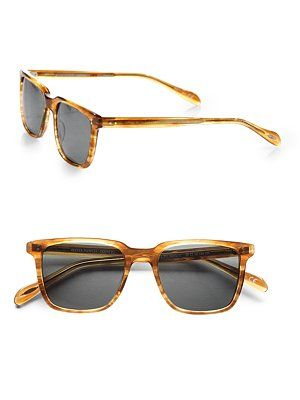 Oliver Peoples for Nom de Guerre // love this sunglass shape