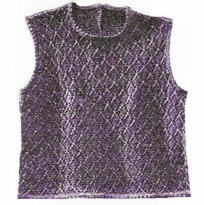 Pattern Stitch Sleeveless Shell Top Vintage Knitting Pattern for download S M L