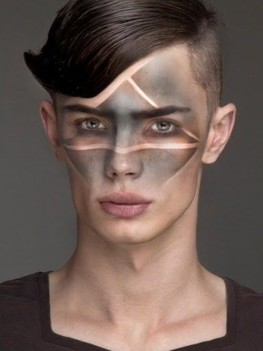 The idea of the ashy smear across the face, but ours wouldn't have the geometry element.