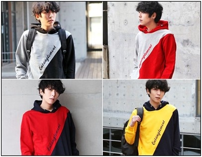 http://koreanfashionformen.com/ Multi coloured Hoodies can make it very easy for the man to not even worry about getting matching clothes with this one. Simple and yet very unique. I don't see this kind of style here in Australia. One tip is to have some coloured sneakers to go with the look like converse all-stars will go well it.