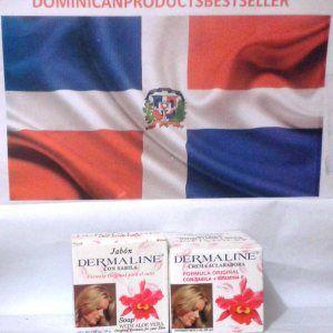 Dermaline 2 oz Skin Lightening Cream Moisturizer Based Cream + 2.85 oz Soap.