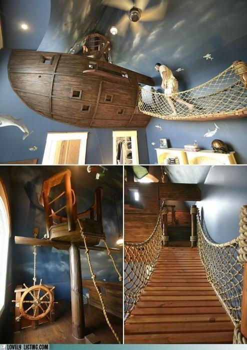 OR boys Peter pan inspired room....r u kidding this should be my room