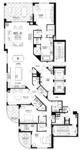 Seaglass floor plan Residence 1 and 6 - Ronto Group, Bonita Springs, Florida