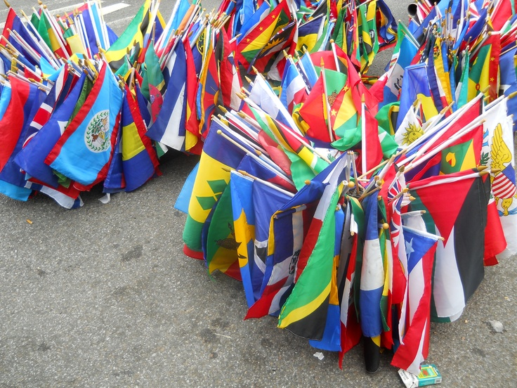 West Indian Flags Seen On Labour Day